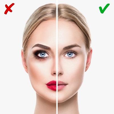 ошибки при выборе макияжа